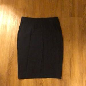 Navy pencil skirt.